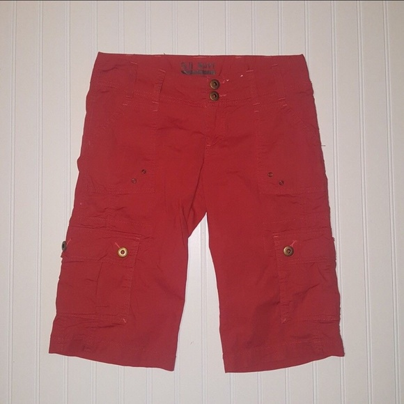 Old Navy Other - Old Navy Cargo Shorts Orange/Red Size 4 (P03-16)